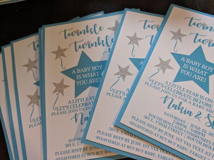 Tmx Baby Shower 51 710718 V1 Calumet City, Illinois wedding invitation