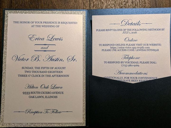 Tmx Erica Invite 51 710718 Calumet City, Illinois wedding invitation