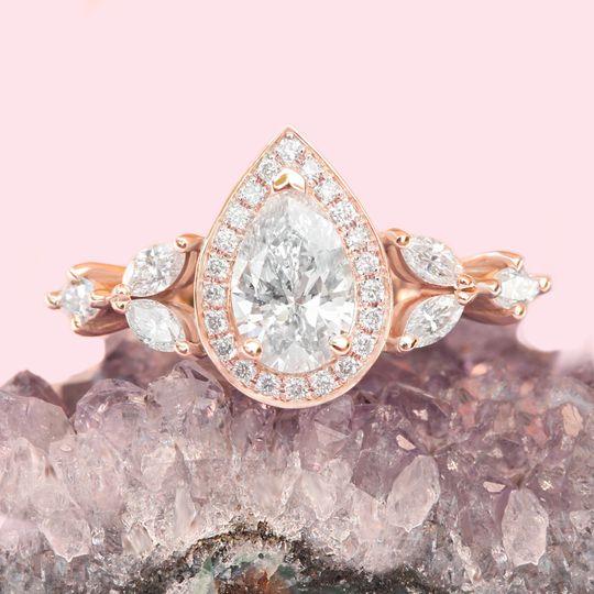 inna pear diamond engagement ring white gold 20229