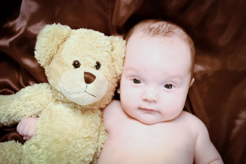 Infant, baby with bear