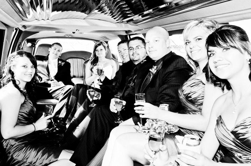 limosine, ride, bridal party, wine, hummer, service, husband, bride, bride's maids, best man