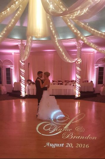 Uplighting & Monogram by The DJ Wagon