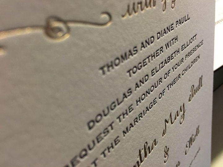 modern black tie letterpress