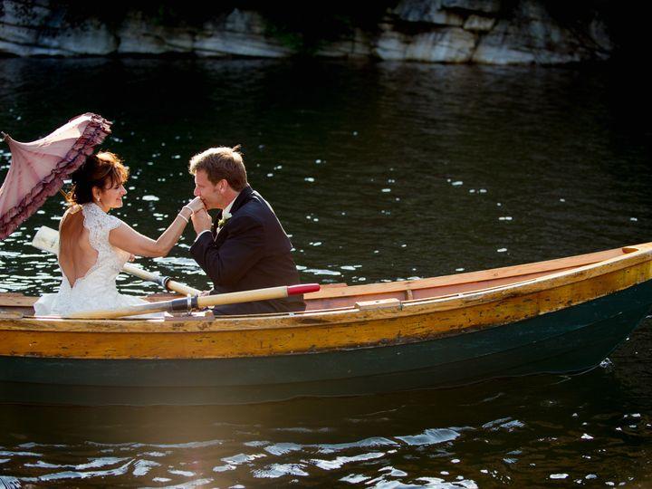 Tmx 1397245642395 Bride And Groom In Boat   Custom By Nicole Photogr New Paltz, New York wedding venue