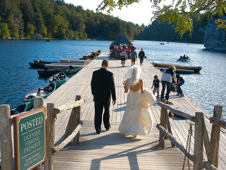 Tmx 1397245667551 Bride And Groom On Boat Dock   Jean Kallina Photog New Paltz, New York wedding venue