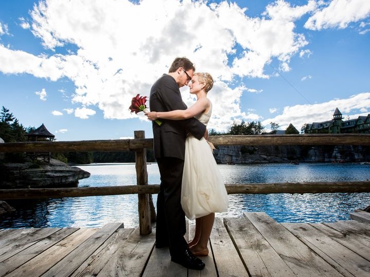 Tmx 1397245718690 Bride And Groom On Lake Shore Bridge   Dennis Pike New Paltz, New York wedding venue