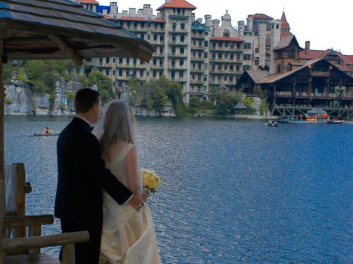 Tmx 1397245742413 Bride And Groom Overlooking Lake Mohonk   Jean Kal New Paltz, New York wedding venue