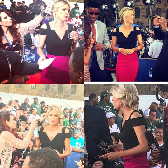 I was asked to work for the NFL network and do Mellissa Starks Hair for the red carpet show at the...