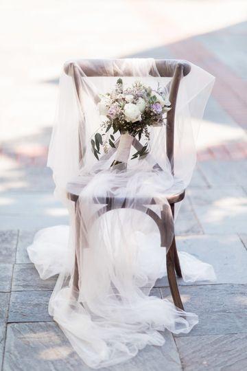 Rustic purple bridal bouquet