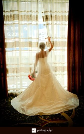 Ashley made a beautiful bride!  I had to share this picture.  She could've been right out of a...