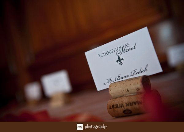 The place cards were printed in a combination font with a flat, black ink.