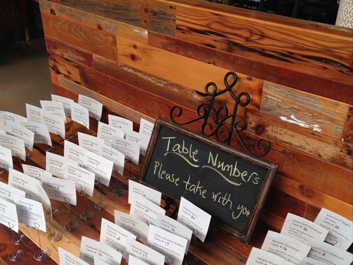 Tmx Table Numbers 51 754718 Chicago, IL wedding catering