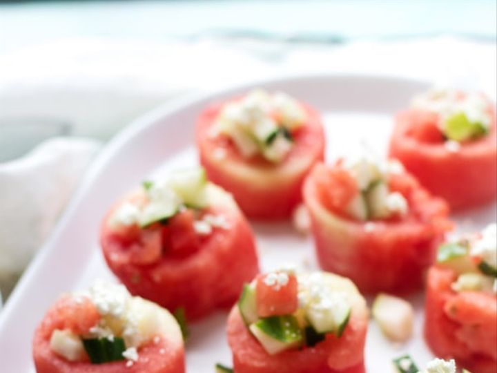 Tmx Watermelon Feta And Cucumber Salad Cups 51 754718 Chicago, IL wedding catering