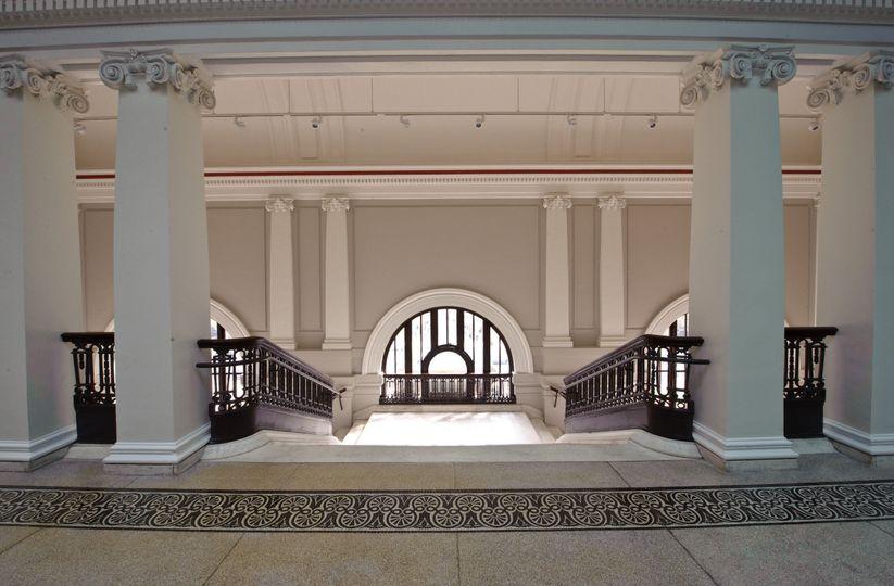 Veranda of Carnegie Library at Mt. Vernon Square - Events DC property