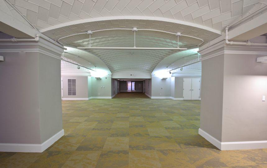 Wide indoor event space