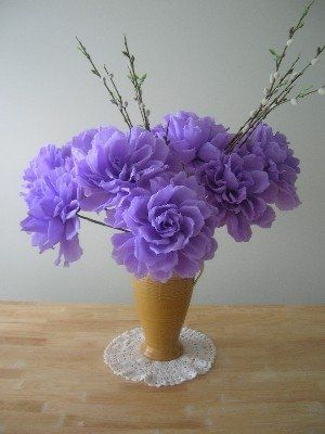 These are my new creations - they are large paper flowers,you can make gorgeous arrangements by...