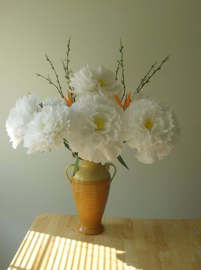 Handmade paper peony for your wedding party