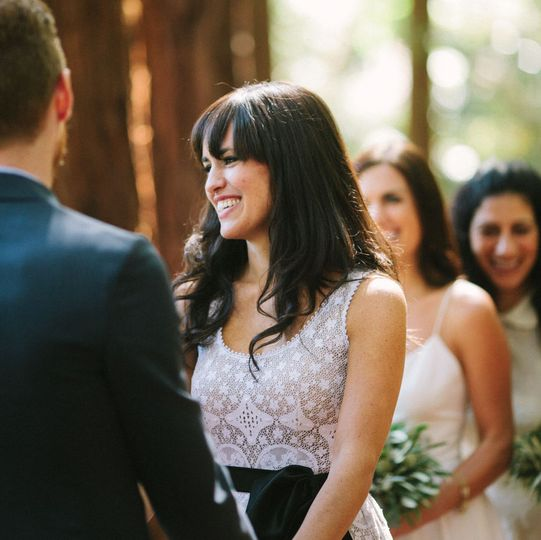 Smiles at the ceremony - Deborah Huber Photography