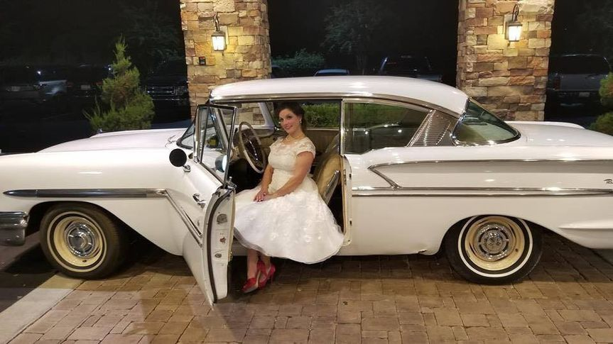 Bride and 1958 Belair