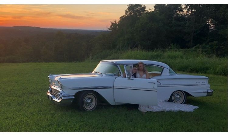 1958 Belair in the sunset!