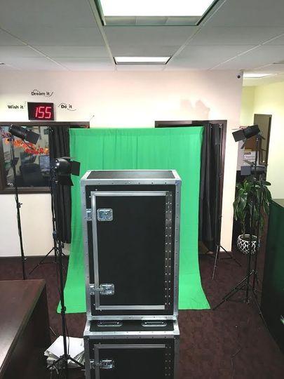 green screen set up 2
