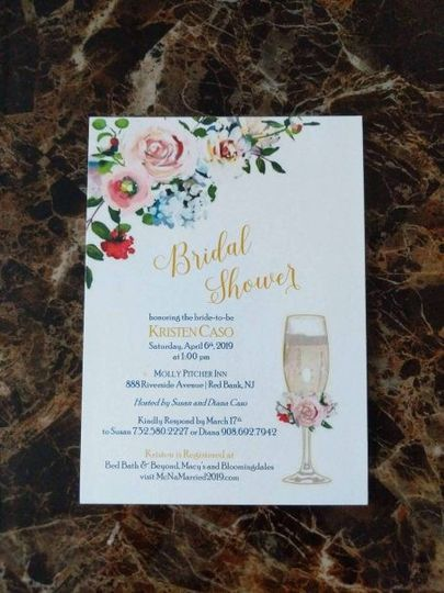 Flower invitations
