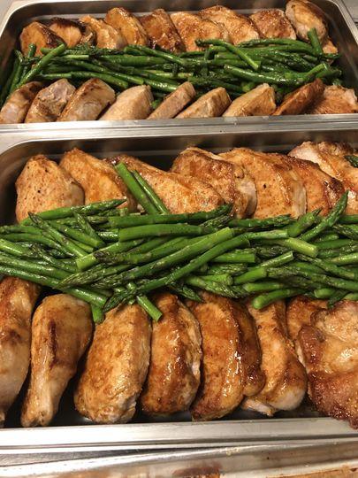 BBQ Pork Chops with Asparagus