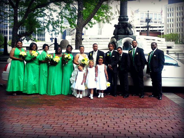 Tmx 1425671138098 Bridal Party In Fromt Of Monument Indianapolis, IN wedding transportation