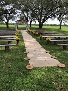 Aisle to ceremony site