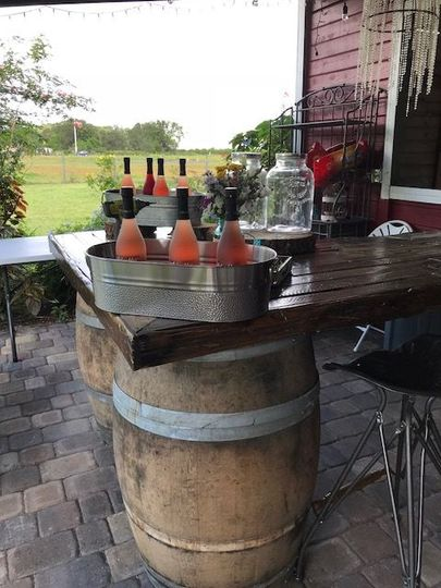 Whiskey-Barrel Bar