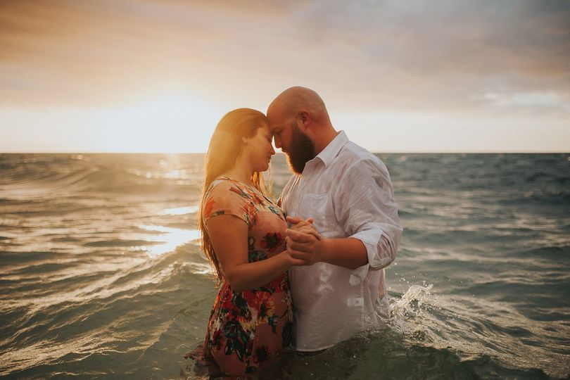 One of our engagement photo sessions in Anna Maria Island!