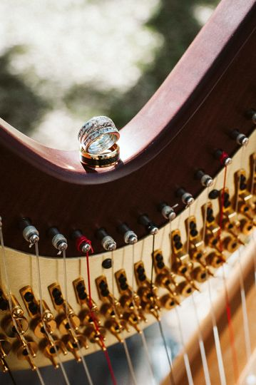 The harp adds an unique and elegant element to your wedding day.