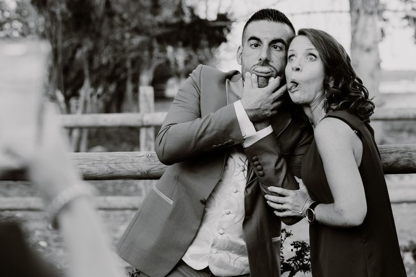 Silliness at the wedding