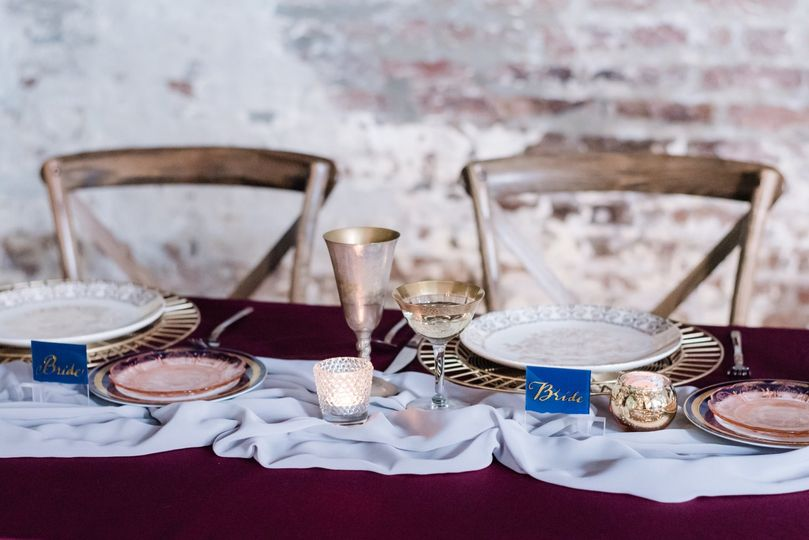 Gold & Clear Place Cards