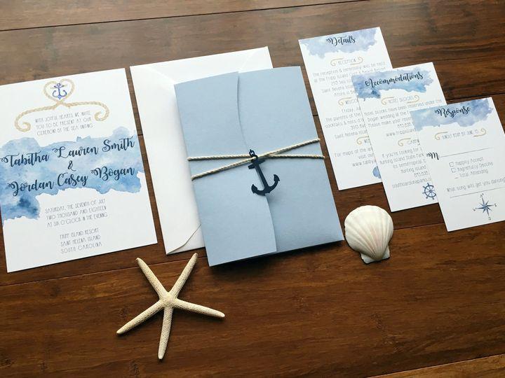 Tmx 1534628393 64e2c12799598f95 1534628391 8059aada01ce7d9a 1534628381702 1 6 FULL SUITE YES Charleston, SC wedding invitation