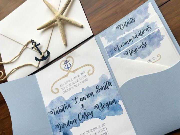 Tmx 1534628393 C7bc987168b34c42 1534628391 6a463e0778d7830f 1534628381704 2 5 POCKET CLOSE UP Charleston, SC wedding invitation