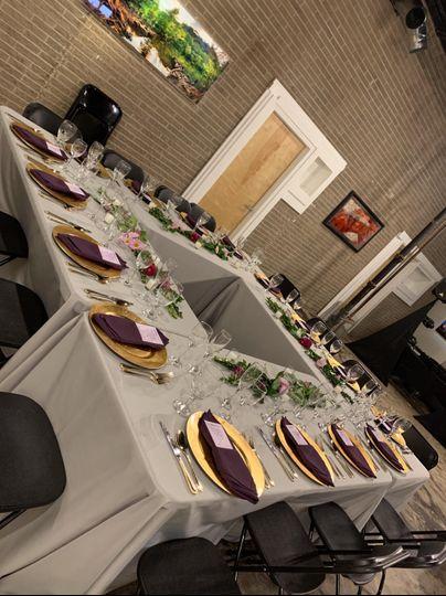 Plated Dinner set up