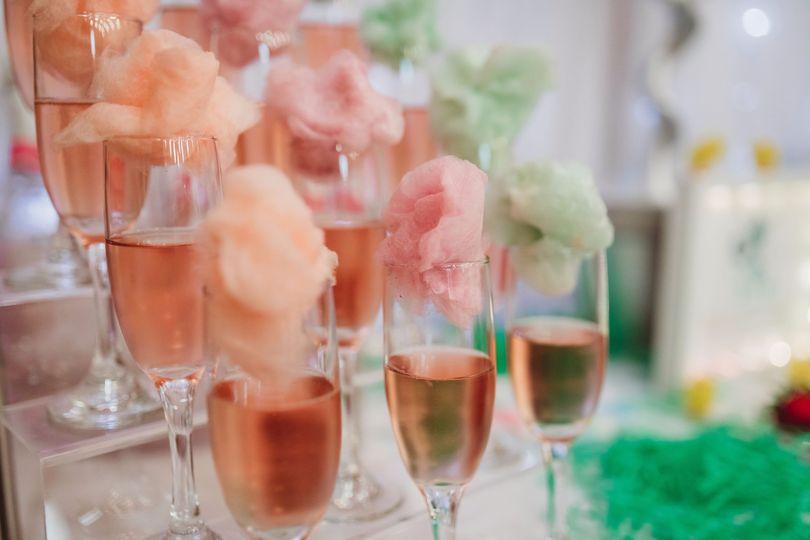 Cotton Candy Champagne Bar