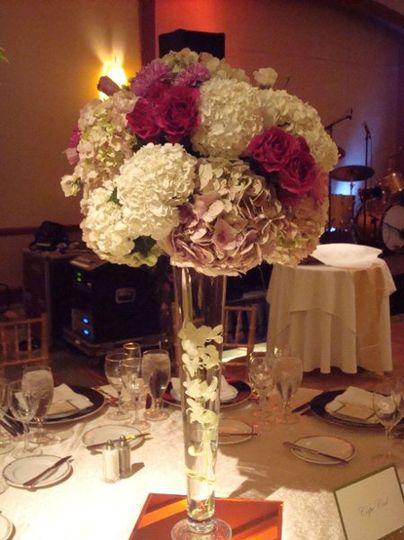 Reception table centerpiece