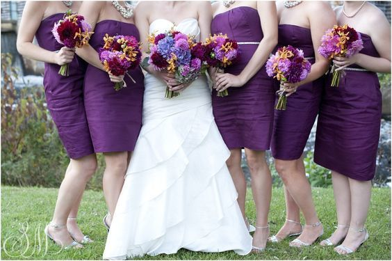 Bouquets of bride and bridesmaids
