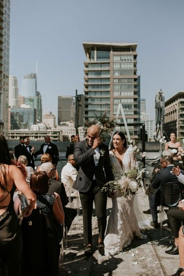 The Sweetest Rooftop Ceremony