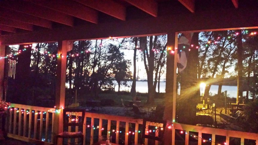 christmas sunrise from the porch