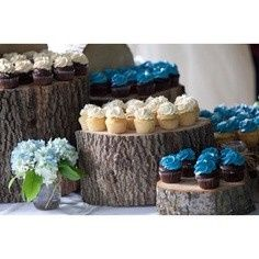 An example of how to incorporate slices into your dessert table display.