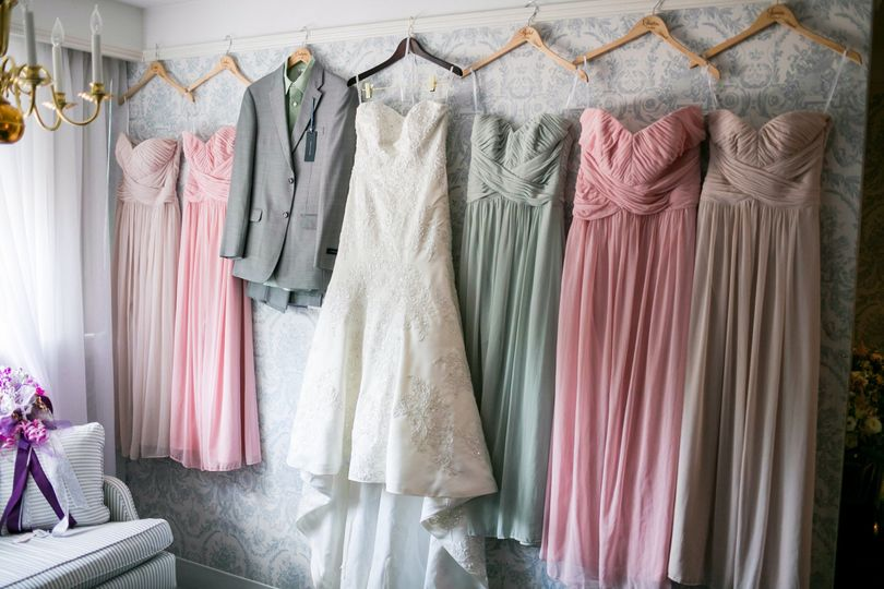 Wedding gowns and suit