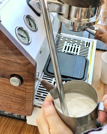 Steaming milk using espresso machine