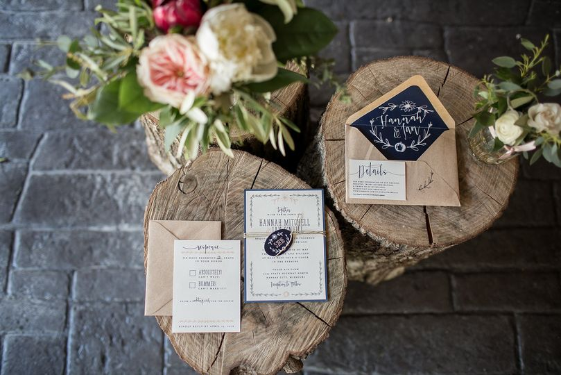 Rustic Navy and Ivory