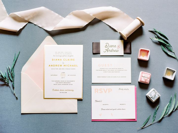Gold foil and bright pinks