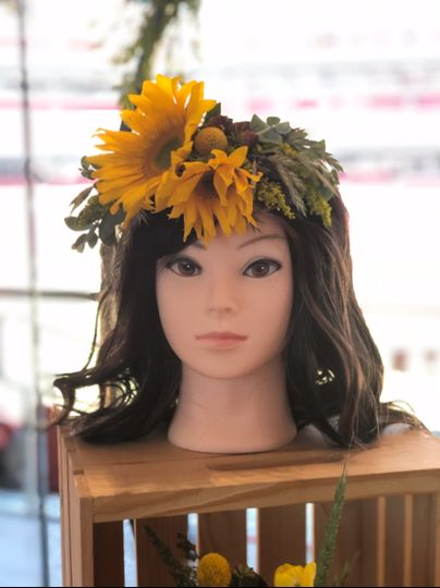 Fun Sunflower Headpiece