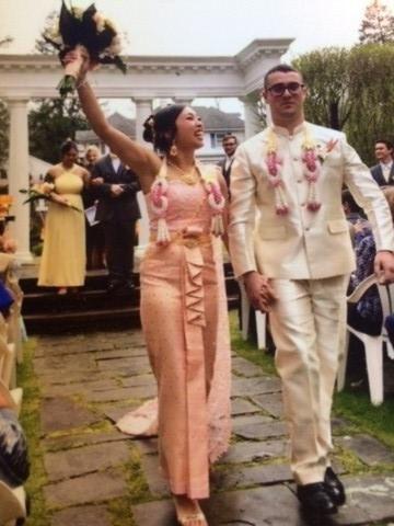 Thai wedding joy
