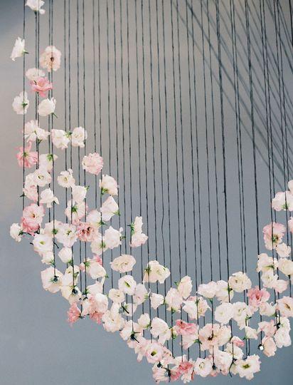 Flower designs hangging